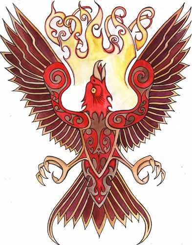 Phoenix, illustration by B.A.Vierling