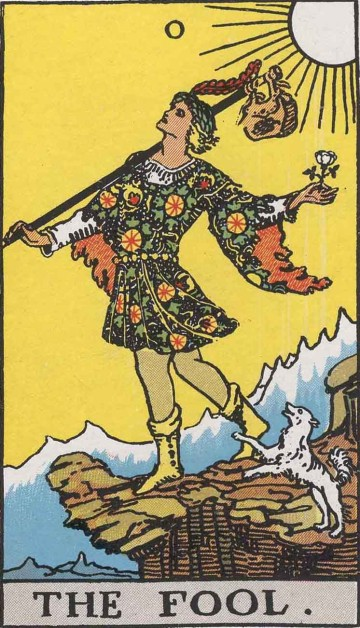 The Fool from the Rider Waite Tarot