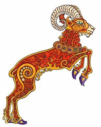 Aries, illustration by B.A.Vierling