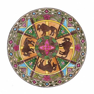Taurus Mandala, illustration by B.A.Vierling