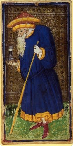 The Hermit from the Visconti-Sforza Tarot