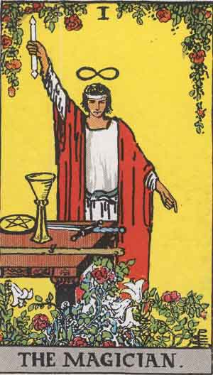 The Magician from the Rider-Waite Tarot