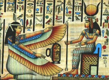 Papyrus-MaatandHathorisiskneeling